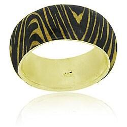 Glitzy Rocks 18k Gold/ Sterling Silver Tiger Print Ring