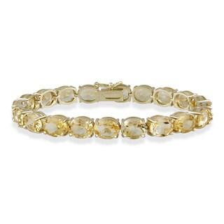 Glitzy Rocks 33 TGW Gemstone Bracelet (5 options available)