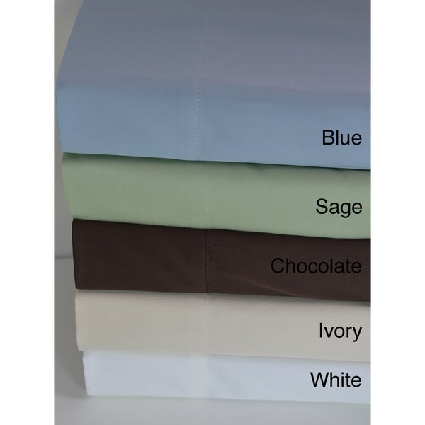 Luxury Egyptian Cotton Sateen 500 Thread Count Solid Sheet Set