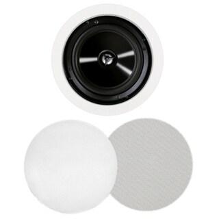 BIC America MSR-PRO6 125 W RMS Speaker - 2-way - 2 Pack - White