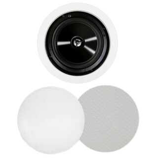 BIC America MSR-PRO6 125 W RMS Speaker - 2-way - 2 Pack - White