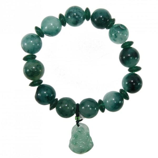Jade Happy Buddha Charm Bracelet (China)