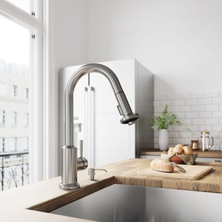 VIGO Astor Stainless Steel Pull-Down Spray Kitchen Faucet