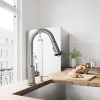 VIGO Astor Stainless Steel Pull-Down Spray Kitchen Faucet