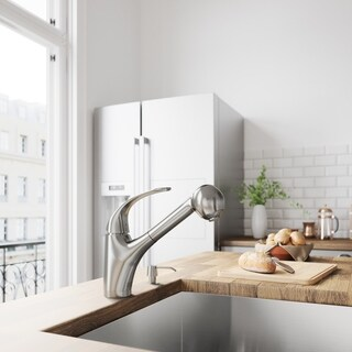 VIGO Alexander Stainless Steel Pull-Out Spray Kitchen Faucet
