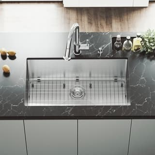 Stainless Steel Kitchen Sinks Undermount Undermount kitchen sinks for less overstock vigo 32 inch undermount stainless steel 16 gauge kitchen sink with rounded edge workwithnaturefo