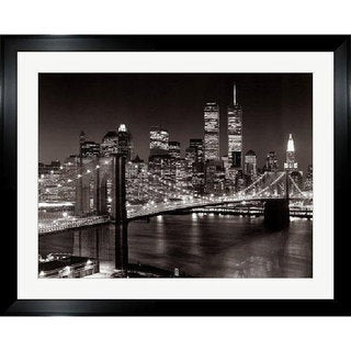 Henri Silberman 'New York, New York, Brooklyn Bridge' Framed Art