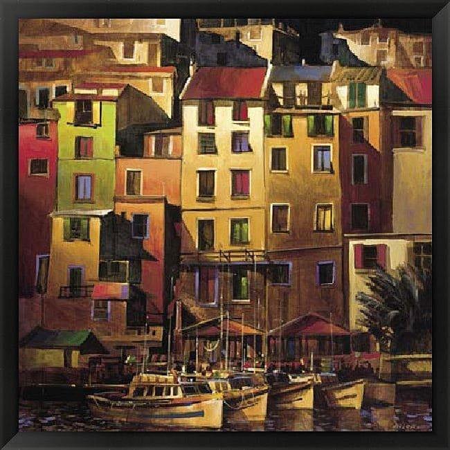 Michael O'Toole 'Mediterranean Gold' Framed Art Print - Beige/Red