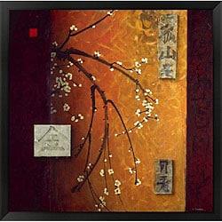Don Li-Leger 'Oriental Blossoms II' Framed Art Print
