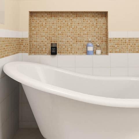 SomerTile 12x12-inch Cuivre Tan Gold Glass Mosaic Wall Tile (13 tiles/13.27 sqft.)