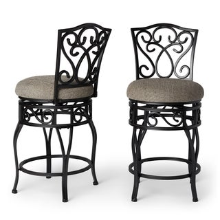 Gracewood Hollow Chase 24-inch Swivel Counter Stools (Set of 2)