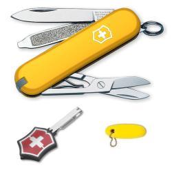 Yellow Swiss Army Knife 3-piece Gift Set - Thumbnail 1