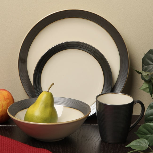 Sango 16-piece Bistro Cream Dinnerware Set