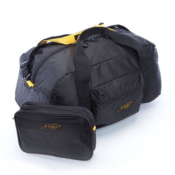 A.Saks 22-inch Lightweight Carry-on Parachute Nylon Duffel Bag ...