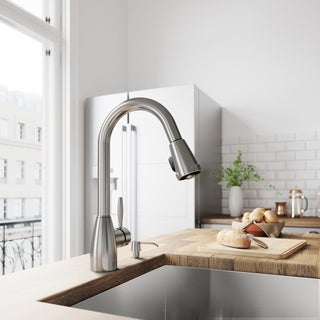 VIGO Graham Stainless Steel Pull-Down Spray Kitchen Faucet