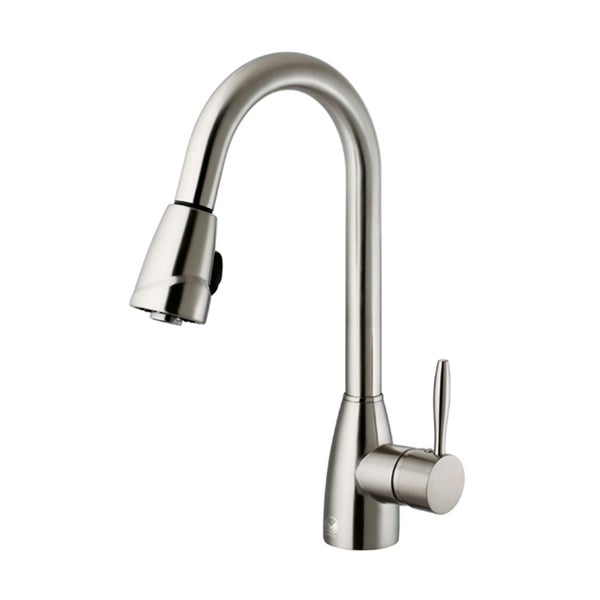 VIGO Graham Stainless Steel Pull Down Spray Kitchen Faucet