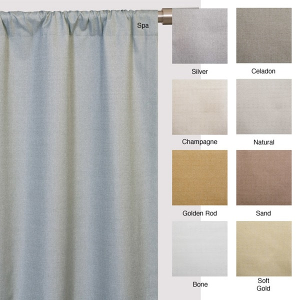 Softline Trilogy Rod Pocket 96 Inch Casual Curtain Panel   Free Shipping  Today   Overstock.com   12208258