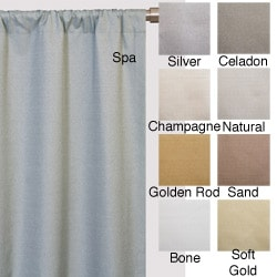 Softline Trilogy Rod Pocket 96-Inch Casual Curtain Panel