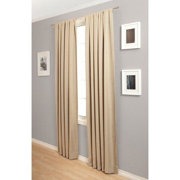 Softline Trilogy Rod Pocket 108-Inch Blockout Curtain Panel