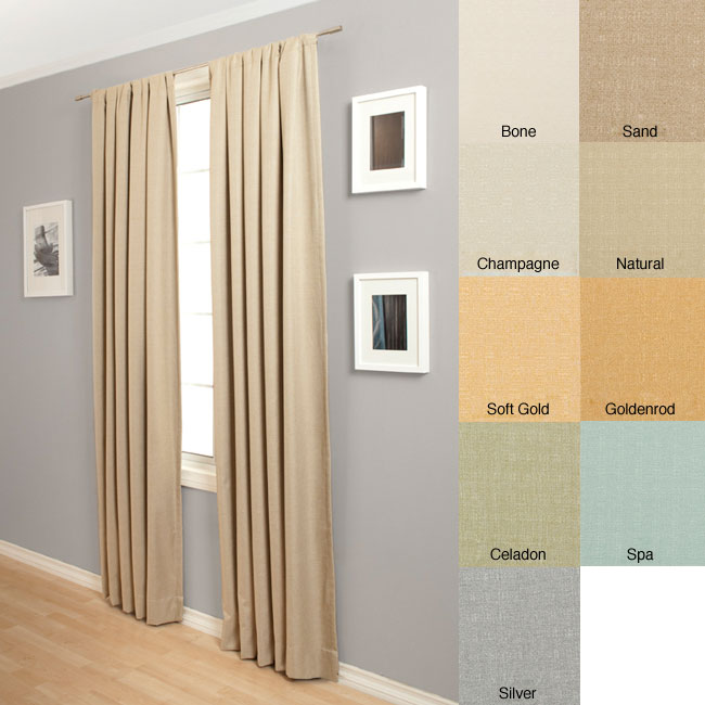 Softline Trilogy Rod Pocket 120-Inch Curtain Panel - Thumbnail 0