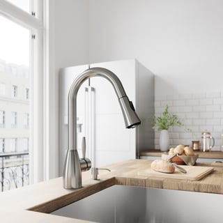 VIGO Aylesbury Stainless Steel Pull-Down Spray Kitchen Faucet