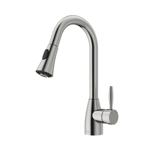 Shop VIGO Aylesbury Stainless Steel Pull-Down Spray Kitchen Faucet ...