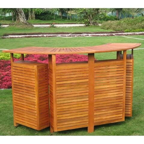 International Caravan Royal Tahiti Outdoor Balau Wood Folding Bar