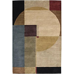 Artist's Loom Hand-knotted Contemporary Geometric Wool Rug (7'9x10'6) - 7'9 x 10'6 - Thumbnail 0