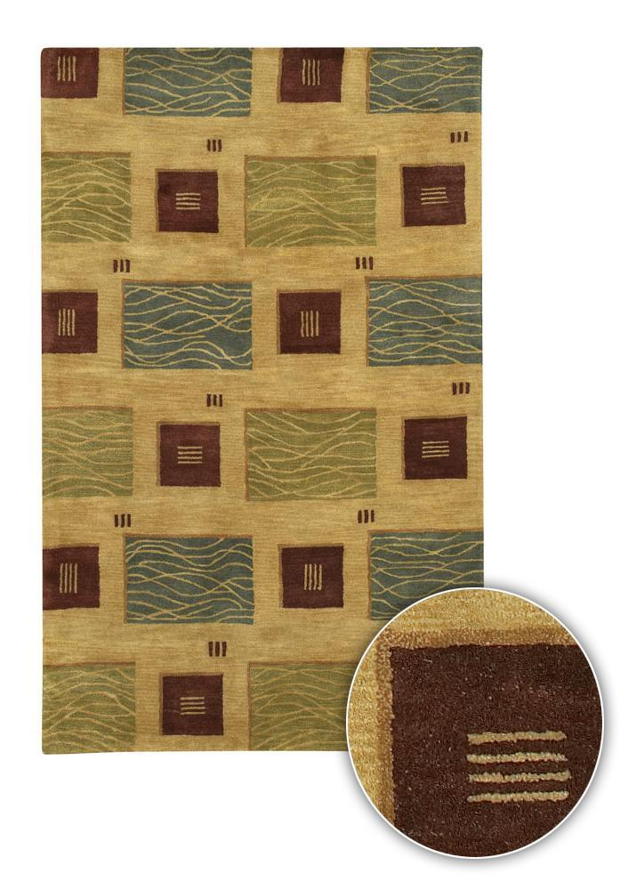 Artist's Loom Hand-tufted Contemporary Geometric Wool Rug (5'x7'6) - multi