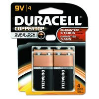 Duracell Coppertop SUPL9V Cell Alk Battery (Pack of 4)