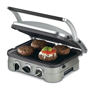 Cuisinart GR-4N 5-in-1 Silver Countertop Griddler with Reversible Plates