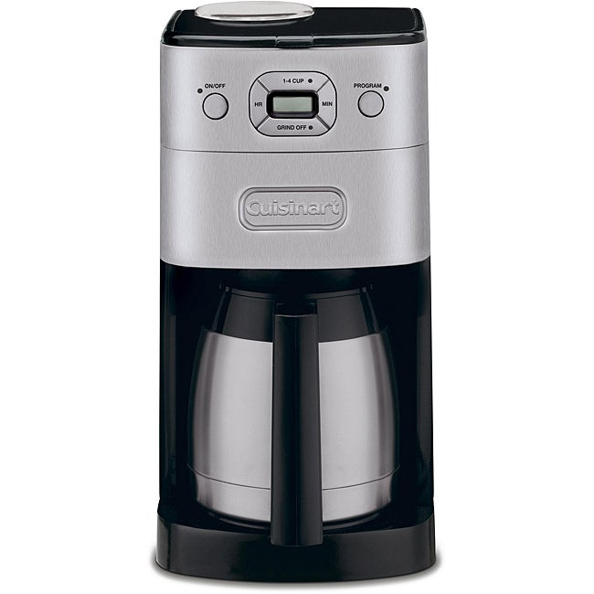 Cuisinart Brushed Metal Grind-and-Brew 10-cup Automatic Coffee Maker - Thumbnail 0