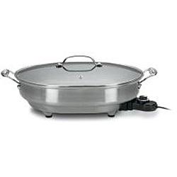 Cuisinart CSK-150 1500-Watt Nonstick Oval Electric Skillet - Thumbnail 1