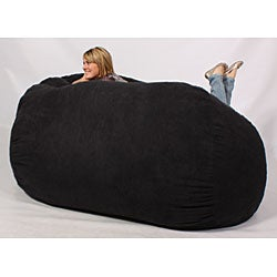 Shop Fufsack Xxlarge 7 Foot Black Lounge Chair Free