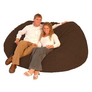 FufSack XXLarge 7-foot Chocolate Brown Lounge Chair