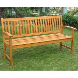 Wood Outdoor Benches   Shop The Best Deals For Aug 2017   Overstock.com