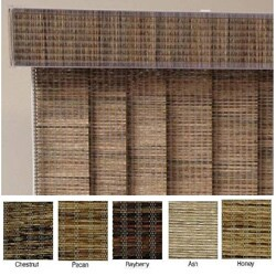 "Vertical Blinds - Edinborough 3 1/2"" Free-Hang Fabric (36 Inches Wide x 5 Custom Lengths) with Valan"