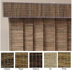 "Vertical Blinds - Edinborough 3 1/2"" Free-Hang Fabric (60 Inches Wide x 5 Custom Lengths) with Valan"