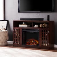 Oliver & James Leighton Espresso Media Console Fireplace