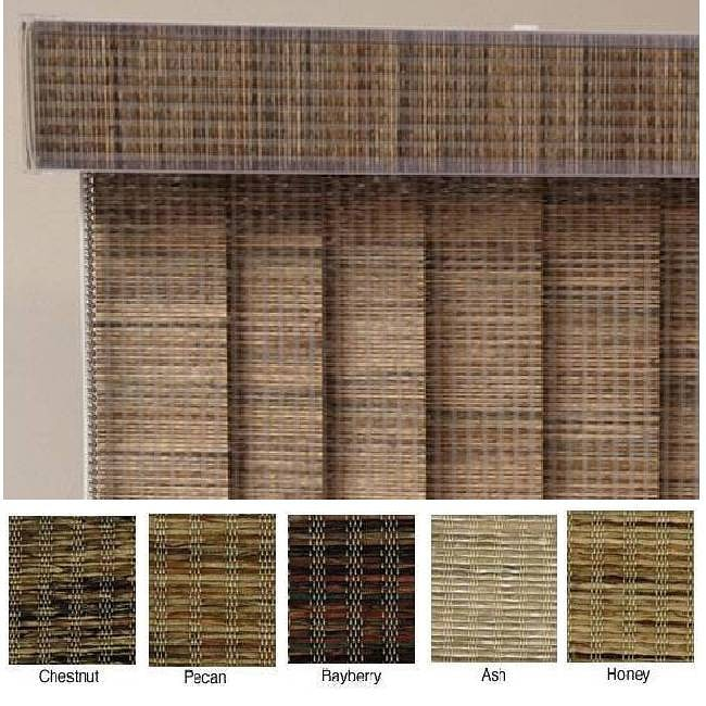 """Vertical Blinds - Edinborough 3 1/2"""" Free-Hang Fabric (68 Inches Wide x 5 Custom Lengths) with Valan"""