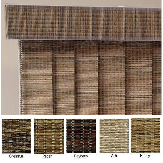 "Vertical Blinds - Edinborough 3 1/2"" Free-Hang Fabric (80 Inches Wide x 5 Custom Lengths) with Valan"