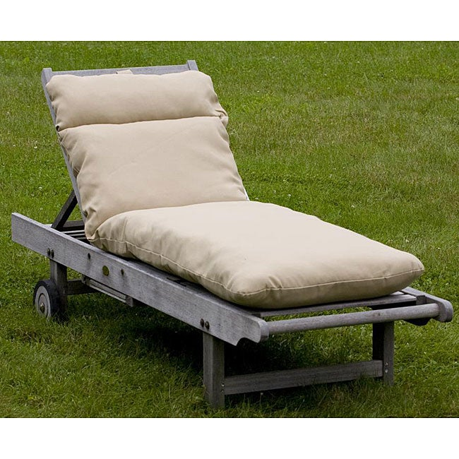 Outdoor Beige Chaise Lounge Cushion
