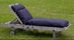 Outdoor Navy Blue Chaise Lounge Cushion Free Shipping Today