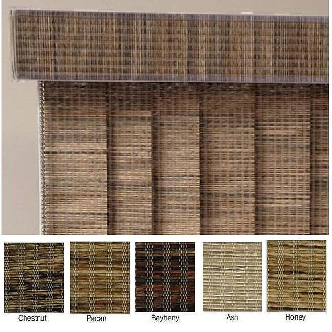 "Vertical Blinds - Edinborough 3 1/2"" Free-Hang Fabric (90 Inches Wide x 5 Custom Lengths) with Valan"
