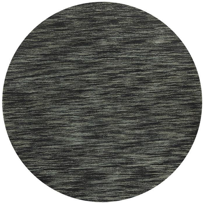 Hand-tufted Mixed Grey Abrash Wool Rug (6' Round)