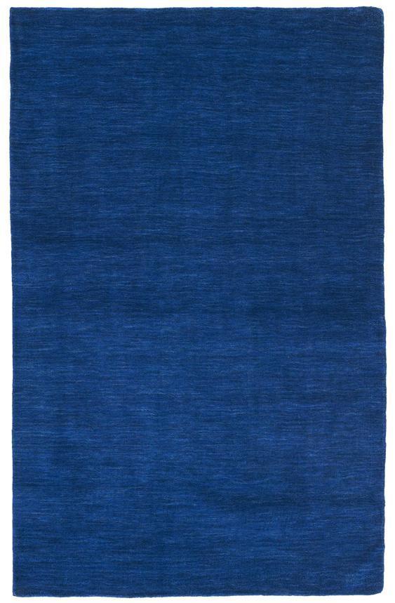 Blue Fusion Wool Rug (8' x 10')
