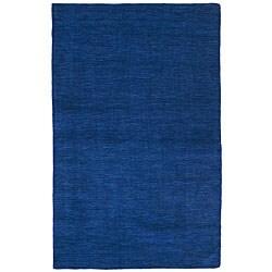 Blue Fusion Wool Rug (8' x 10') - 8' x 10'