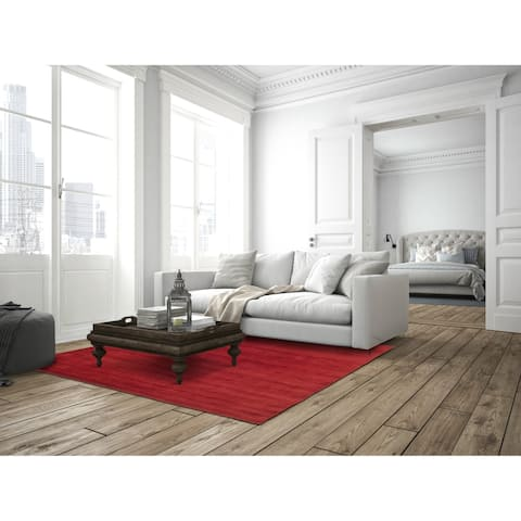 Red Fusion Wool Tufted Rug