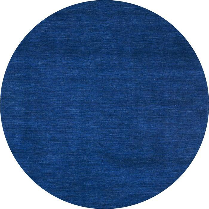Blue Fusion Wool Rug 8 Round Free Shipping Today