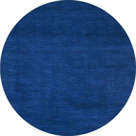 Blue Fusion Wool Tufted Rug